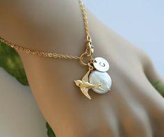 bird charm bracelete