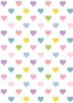 FREE printable heart pattern paper | #kawaii
