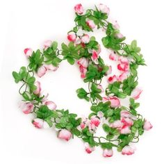 Artificial Rose Garland Silk Flower Vine for Home Wedding Garden Decoration - Pink, http://www.amazon.co.uk/dp/B008UIXSKI/ref=cm_sw_r_pi_awdl_LKvwtb1NP07YG