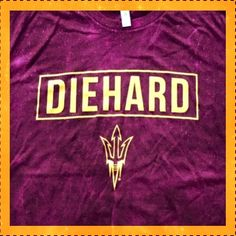 It's Friday! Treat yourself to some soft DieHard Sun Devil swag.. http://diehard-apparel.com/collections/all
