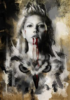 'vikings queen lagertha' Poster by Viking Warrior Woman, Viking Queen, Ragnar Lothbrok Vikings, Lagertha Lothbrok, Viking Wallpaper, Witchy Wallpaper, Arte Viking, Rabe Tattoo, Vikings Tv Show