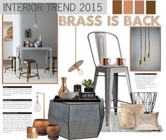 """2015: Brass is Back"" by anna-anica on Polyvore"