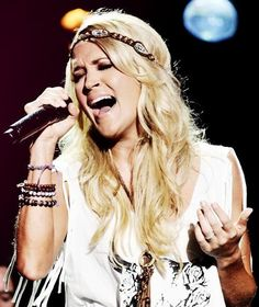 Carrie singing at CMA Music Fest 2013