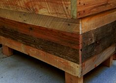 This chest has a nice smooth finish (Sanded with 3 grades), and its all recycled pallet wood. A mix of all natural colors. Very rustic, trendy, and handmade so it will last longer than the usual mass produced Chest. Can be used as a bench and storage, as seen in the pictures. Takes about 2-3 weeks to create and 3-5 business days to ship. Yeah, were fast! (Last chest photo is made with darker tones)    Custom sizing/Coloring isnt a problem just ask :) (We all have our own preferences)    All…