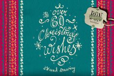 Christmas Hand-Sketched Wishes by BON-design on Creative Market