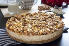 Tarta de turron1 Flan, Tiramisu, Camembert Cheese, Frosting, Cheesecake, Deserts, Food And Drink, Pie, Cooking