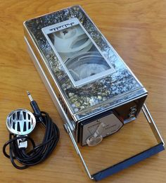 Reel To Reel Tape Recorder Juilette Portable Chrome Transistor Japan Vintage MIC