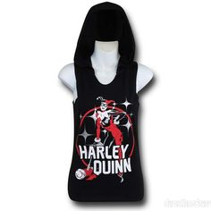Images of Harley Quinn Women's Hooded Tank Top