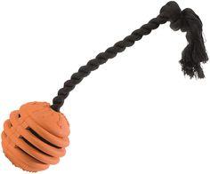 Hundespielzeug Vollgummispirale - Vollgummi, mit Wurfseil