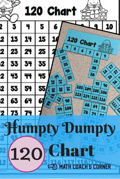 Grab this free Humpty Dumpty 120 chart. Can your kiddos put it back together again?
