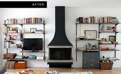 DIY Mounted Shelving | 15 Ingenious DIY Home Projects For Small Spaces