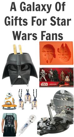 A Galaxy Of Gifts For Star Wars Fans - 60 Gift Ideas #starwars #theforceawakens