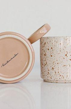 Ceramic Mug Duo – Kristin Made Cocoa Drink, Latte Art, Ceramic Mugs, Ceramics, Cream, Blush, Crafts, Comfy, Drinks