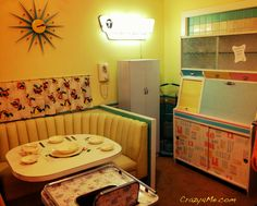 Cool Retro Kitchen - Love the Baby Chair!!