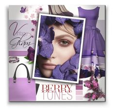 """""""Vintage Glam - Berry Tones"""" by colormegirly ❤ liked on Polyvore featuring Prada, Chrysalis, vintage, handbags, purplepower and polyvoreset"""