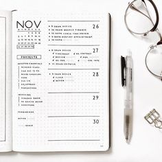 Jessica ordered a custom bullet-journal-inspired planner. Jessica's planner is an Essentials Grid Notebook. Bullet Journal School, Planner Bullet Journal, Bullet Journal Notebook, Bullet Journal Spread, Bullet Journal Inspo, Bullet Journals, Grid Notebook, Bullet Journal November Ideas, Bullet Journal Time Tracker