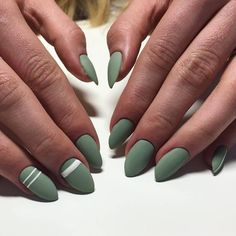 34 Pale Green with White Stripes