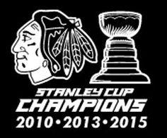 Chicago Blackhawks Decal Stanley Cup Champions 2010 2013 2015 Vinyl Sticker