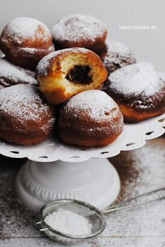 Pączki z powidłami Vegan Gluten Free, Vegan Vegetarian, Tabbouleh Recipe, Doughnut Muffins, Gourmet Recipes, Healthy Recipes, Polish Recipes, Polish Food, Buckwheat Pancakes