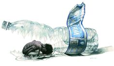 10 Cartoons for World Water Day Save Water Poster, Satirical Illustrations, Art, Meaningful Pictures, Water Drawing, Creative Drawing, Cartoon, Environmental Art, Africa Art