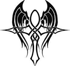 #winged #stylized ankh