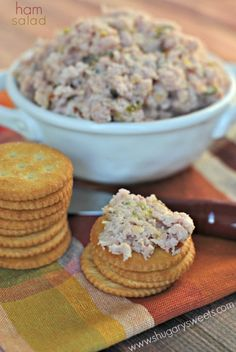 Grandma's Ham Salad recipe: perfect on crackers!