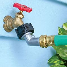 Zinc Goose Neck Swivel Hose Connector | Sprinklers, Hoses & More | Outdoor Home Care | www.qcidirect.com