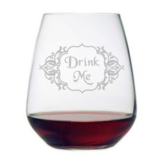 "Etched Novelty Barware ""Drink Me"" Stemless Wine Glass - BedBathandBeyond.com"