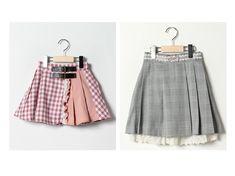 36734cf92cf54 人気、春夏キッズファッションの通販  axes femme   KIDS アクシーズ ファム のプリーツスカート ベルトプリーツスカパン