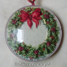 sospeso Decoupage, 3d Paper, Rice Paper, Christmas Balls, Decorative Plates, Create, Holiday Decor, Projects, Handmade