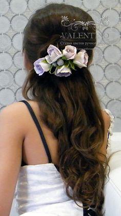 Заколка с розами для подружки невесты