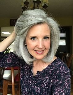Joni's grey hair transition started when she was in her 50s, and tired of dyeing. She went grey cold turkey with long hair and looks fabulous! She explains why she chose to go grey cold turkey and keep her hair long, and her favorite grey hair products. It's a must-read gray hair transition story! #greyhair #grayhair #goinggray #over50beauty Grey Hair Over 50, Short Grey Hair, Very Short Hair, Grey Hair Quotes, Grey Hair Transformation, Grey Hair Care, Grey Hair Inspiration, Natural Hair Styles, Short Hair Styles