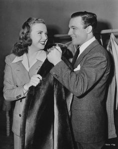 """Gene saying under his breath, """"You know sixty minks had to die for this scene. Golden Age Of Hollywood, Old Hollywood, Christmas Movies, Christmas Holidays, Deanna Durbin, Vintage Gentleman, Ginger Rogers, Gene Kelly, Fred Astaire"""