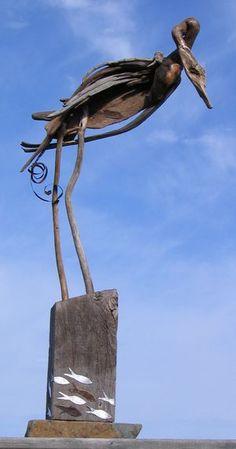 Driftwood Crane • Jaye Ouellette