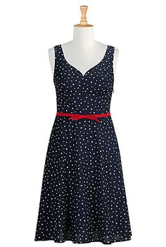 Star print sweetheart dress