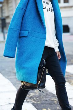 """""""Winter Blues"""" that'll definitely make you not so blue! Loving this look!"""