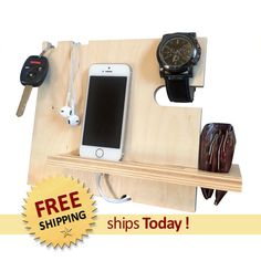 Groomsmen Gift  Iphone Dock It Charging Stand by TheWoodenMonogram