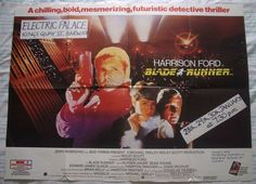 Blade runner, original 1982 british quad movie film #cinema #poster, #harrison fo,  View more on the LINK: http://www.zeppy.io/product/gb/2/302196741512/