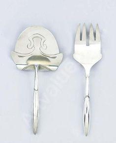 Henry van de Velde fish knife and fork, 1903