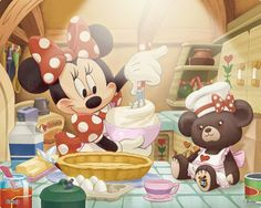 Minnie's cooking up a storm! totally going in my kitchen next to my kitchen aid!!