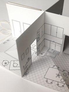 Papier à l'échelle de la maison petit livre pop-up par pipsawa