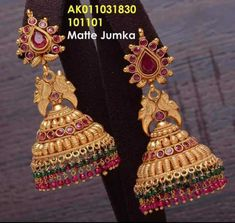 Matte jamuka INR 1299 / pair plus shipping Direct message us for orders and queries Online payment mode (No COD) . Gold Jhumka Earrings, Gold Bridal Earrings, Jewelry Design Earrings, Gold Earrings Designs, Gold Jewellery Design, Gold Jewelry Simple, Temple Jewellery, Ear Rings, Happy Girls