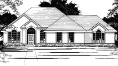 European House Plan with 2354 Square Feet and 4 Bedrooms from Dream Home Source | House Plan Code DHSW74071