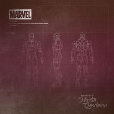 Marvel #work #blueprint #Marvel #Ironman #art