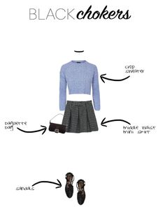 """Ugh, as if - style a black choker"" by georginamaybrown ❤ liked on Polyvore featuring Topshop, WithChic, Chiara Ferragni, Fendi, 90s, topshop, fendi, chiaraferragnicollection and blackchoker"