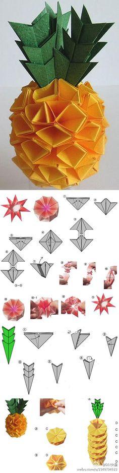 pineapple origami