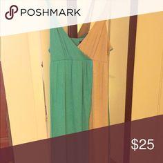 Color block maxi dress Blue and cream maxi dress Cynthia Rowley Dresses Maxi