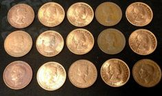 Lot of 12 Great Britain Coins 1945 - 1960's Half penny U.K world coins