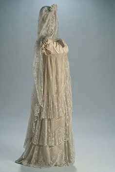 Early 1800s Spanish wedding gown and mantilla - WOW!!! Maybe technically not Jane Austen, but I love the Spanish version of the era.
