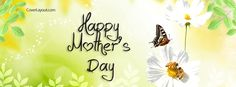 Happy Mother's Day Butterfly Flower and Bees Facebook Cover CoverLayout.com